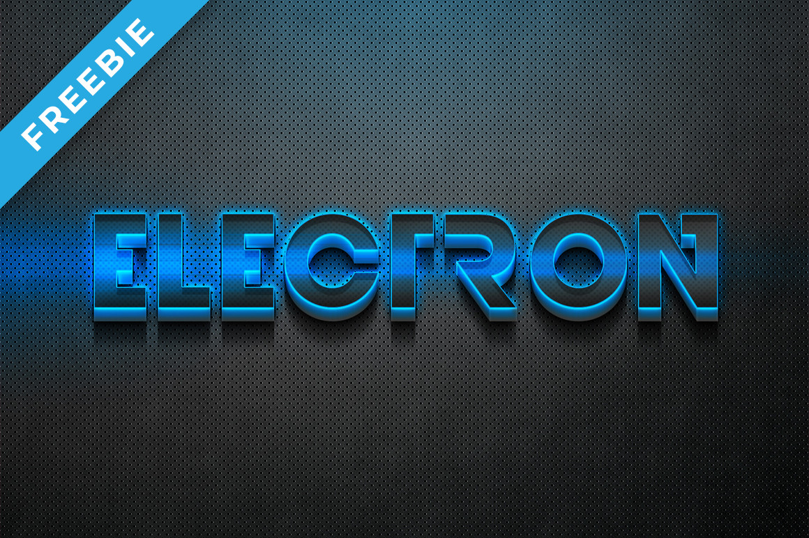 Electro 3D Text Effect