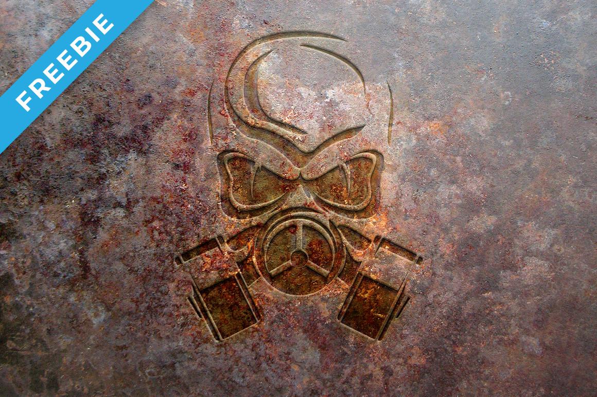 Rust Metal Logo Mock-Up