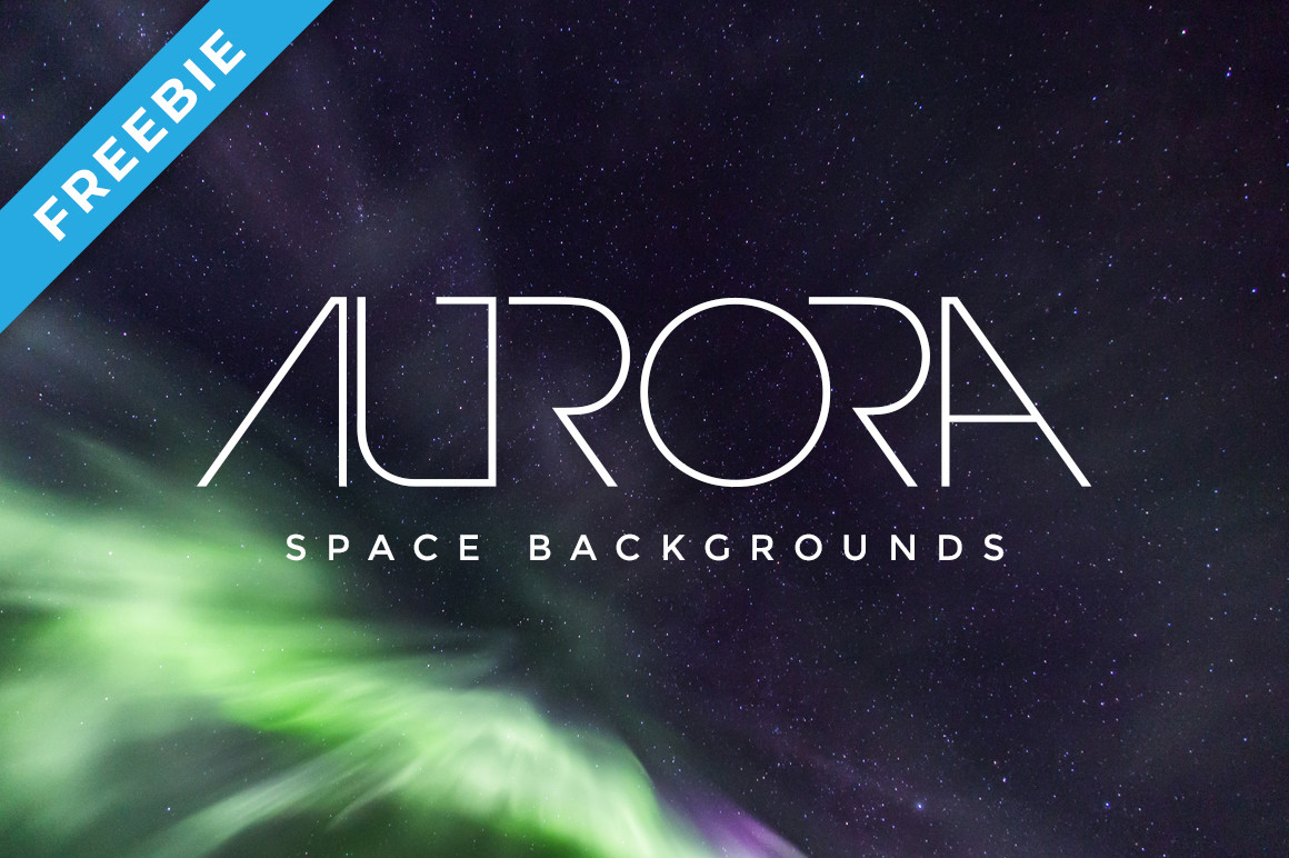 Aurora Space Backgrounds