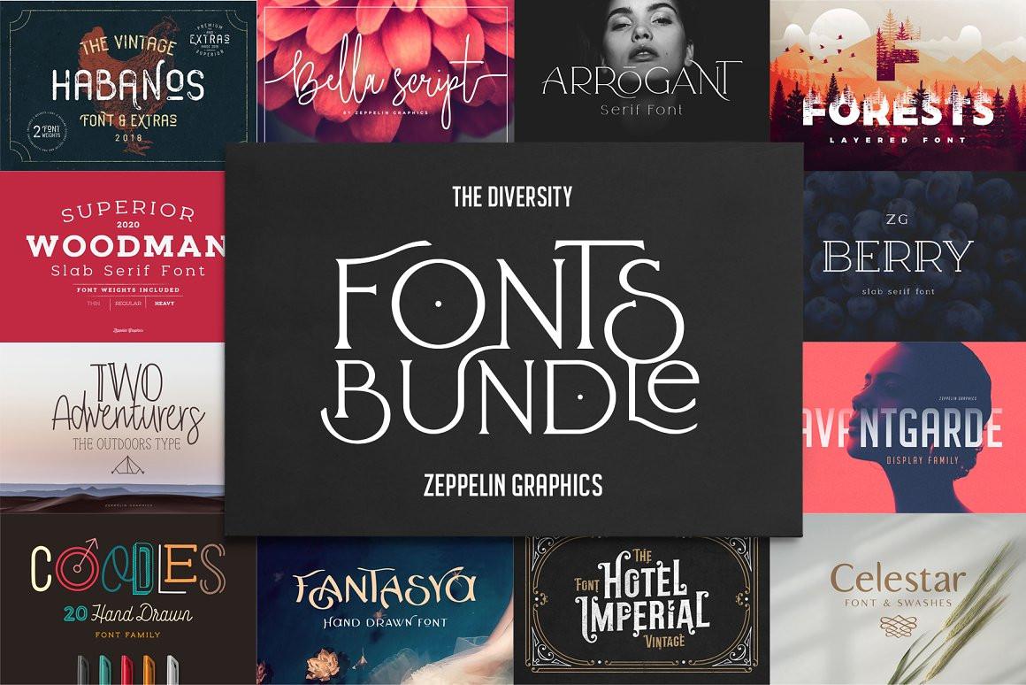 Diversity Fonts Bundle