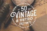 50 Vintage & Retro Free Fonts