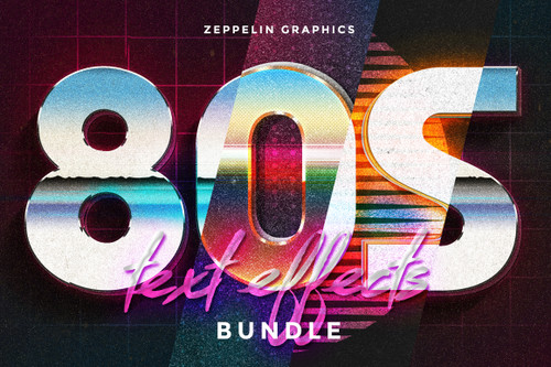 80s Text Effects Minibundle