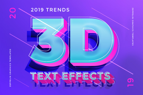 3D Text Effects New Trends