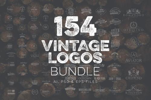 154 Vintage Logos Bundle Vol.3
