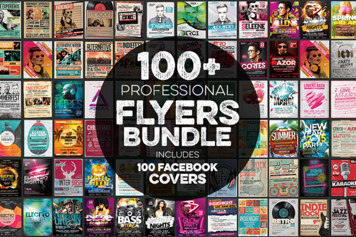 100+ Flyers Bundle + Covers