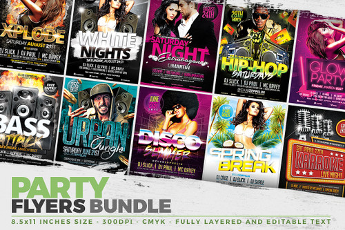 Party Flyers + FB Covers