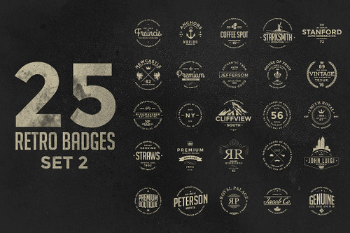 Retro Badges Set 2