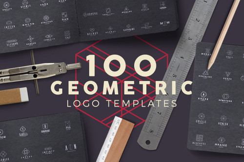 100 Geometric Logos Set