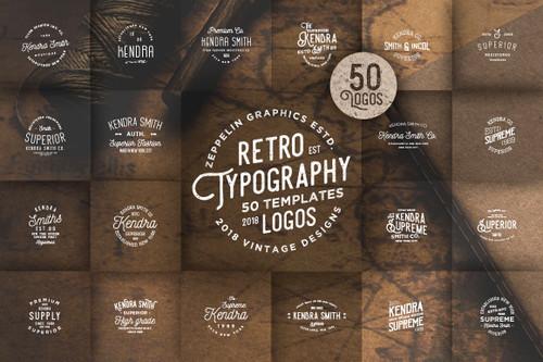 50 Vintage Typography Logos