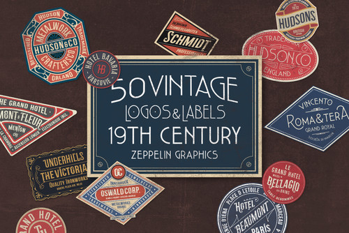 19th Century Vintage Labels