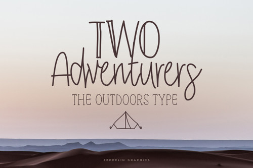 Two Adventurers Font + Bonus