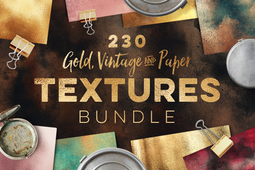 230 Gold, Vintage and Paper Textures