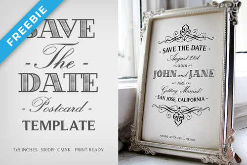Save The Date Postcard Template V.1
