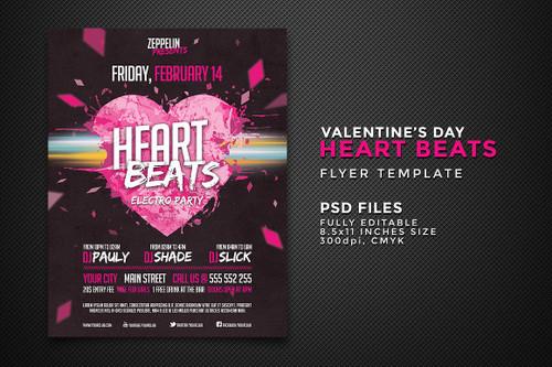 Heart Beats Flyer Template