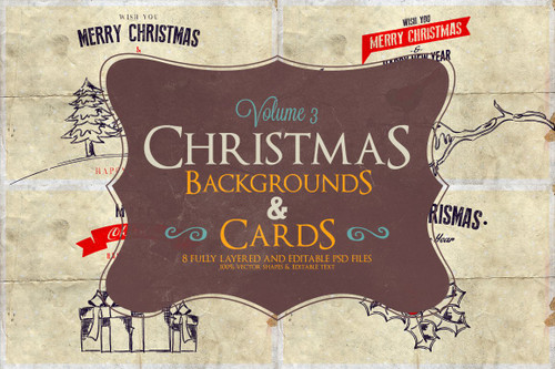 Christmas Background & Cards Vol.3