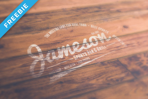 Wood Logo Mock-Up
