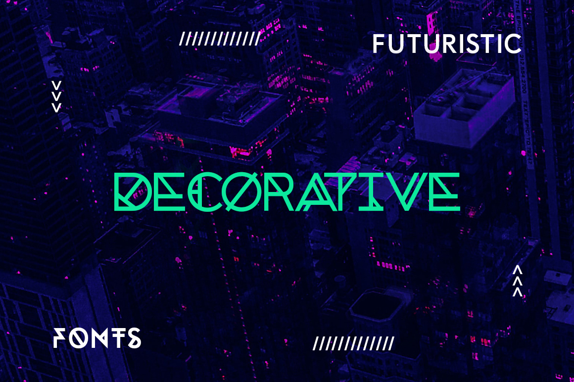 20 Modern and Futuristic Decorative Fonts