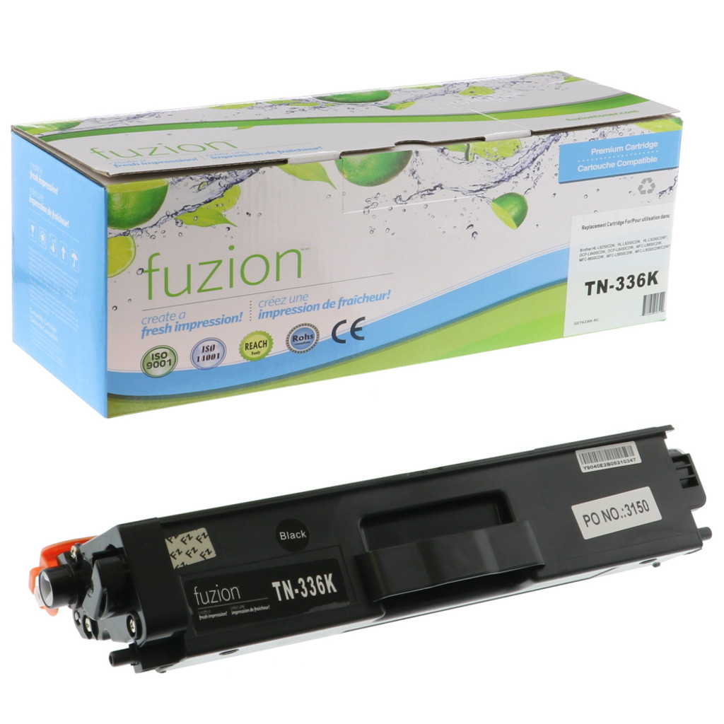 Fuzion Brother TN336BK Toner Black Compatible