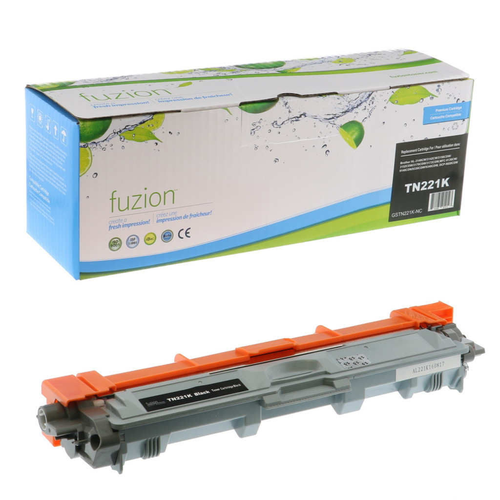 Fuzion Brother TN221BK Cartridge Black Compatible