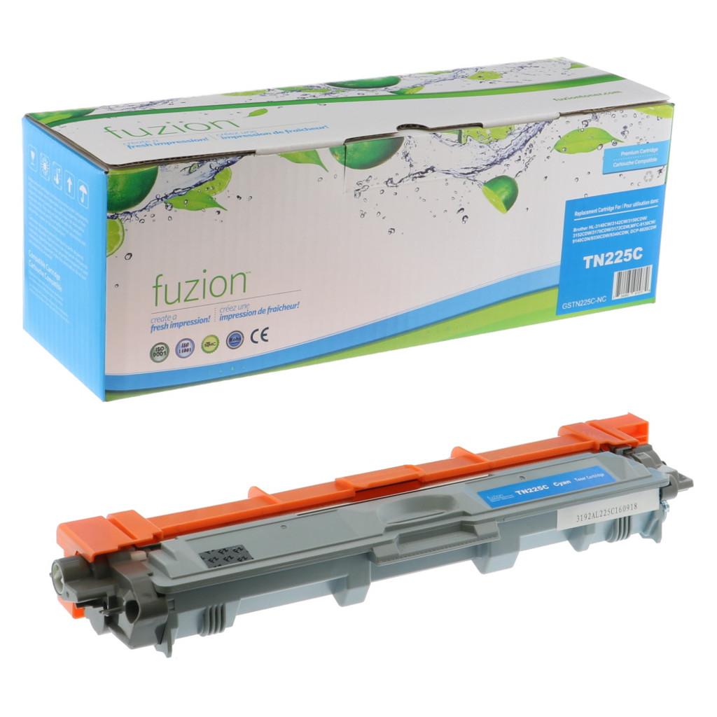 Fuzion Brother TN225C Cartridge Cyan High Yield Compatible