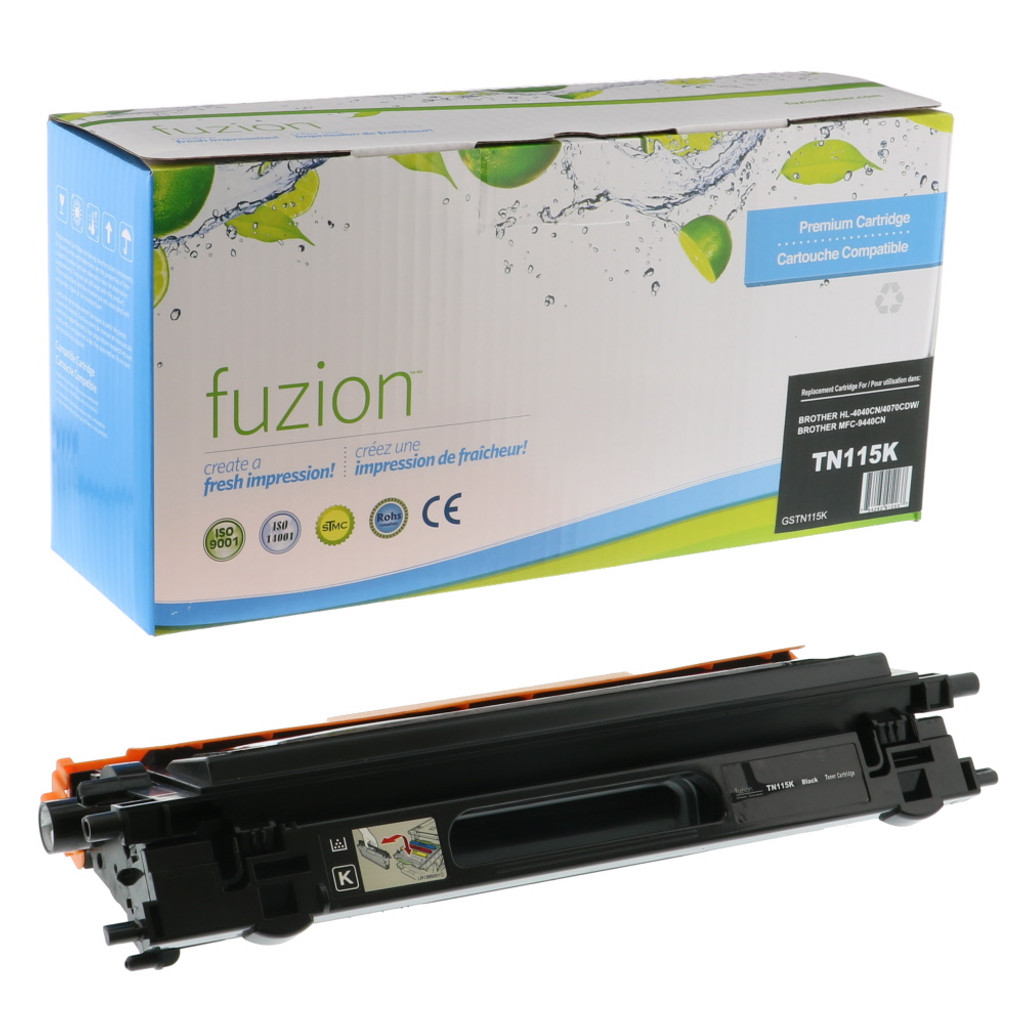 Fuzion Brother TN115BK Toner Black Remanufactured
