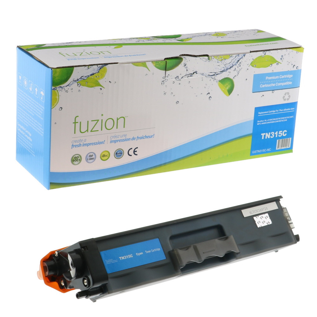 Fuzion Brother TN315C Toner -Cyan Compatible