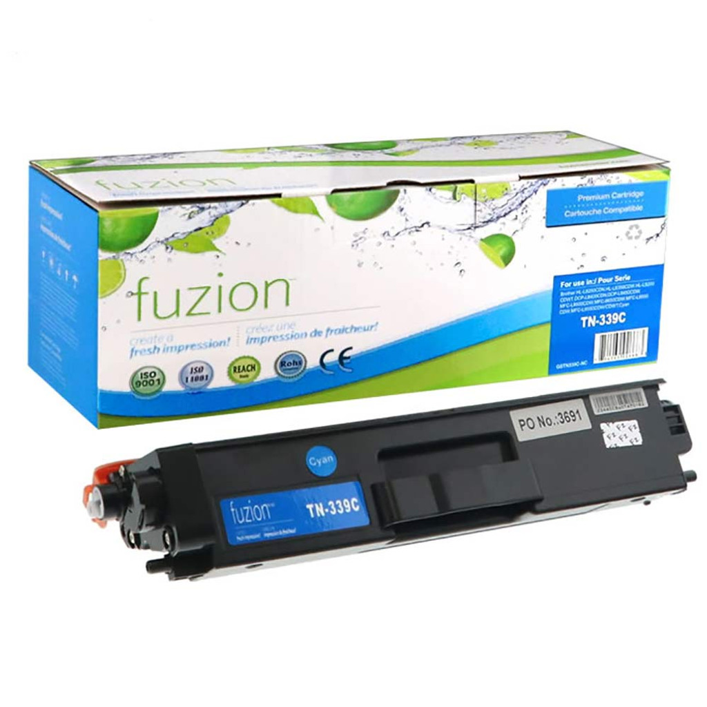 Fuzion Brother TN339C HY Toner Cyan Compatible