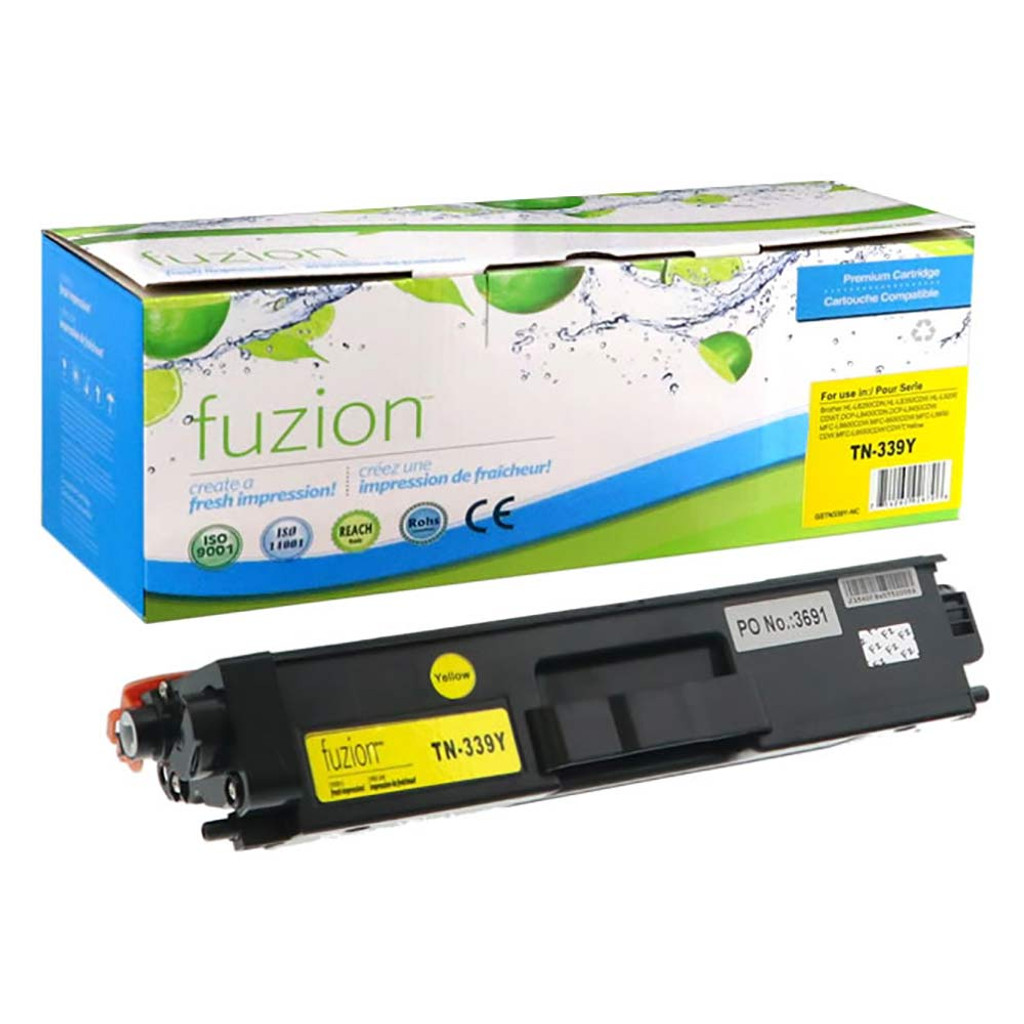 Fuzion Brother TN339Y HY Toner Yellow Compatible