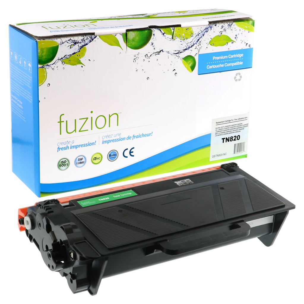 Fuzion Brother TN820 Toner Cartridge Standard Yield Compatible