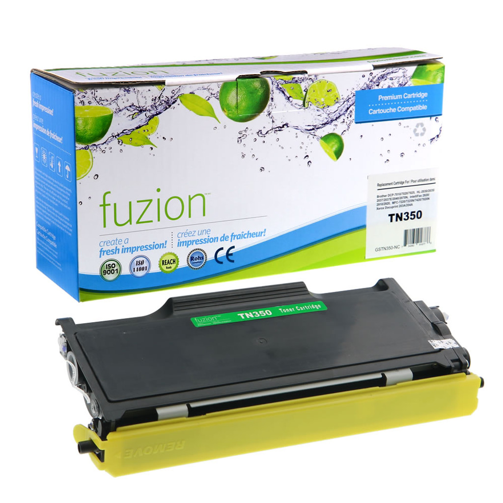 Fuzion Brother TN350 Compatible Toner Black Compatible
