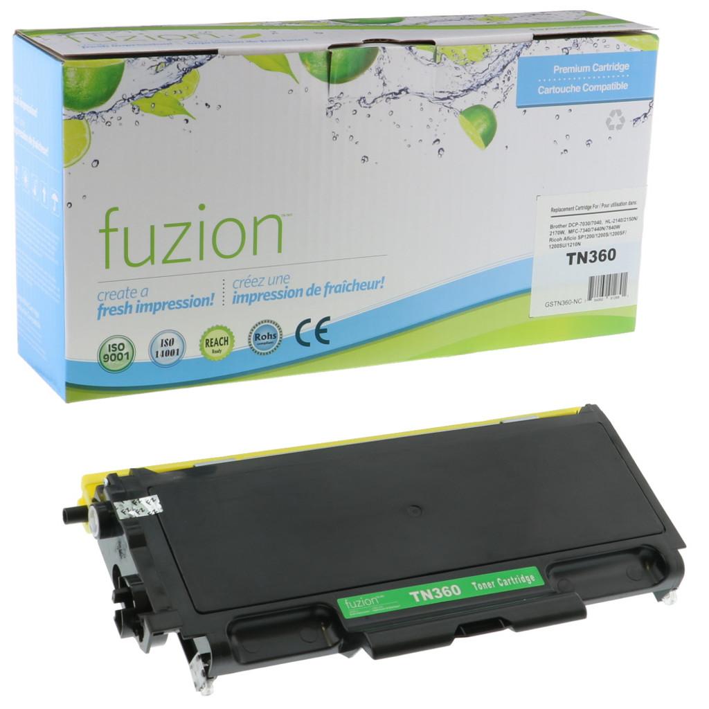 Fuzion Brother TN360 Compatible Toner Black Compatible