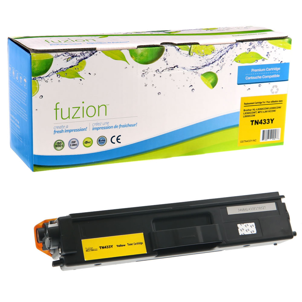 Fuzion Brother TN433Y HY Toner Yellow Compatible
