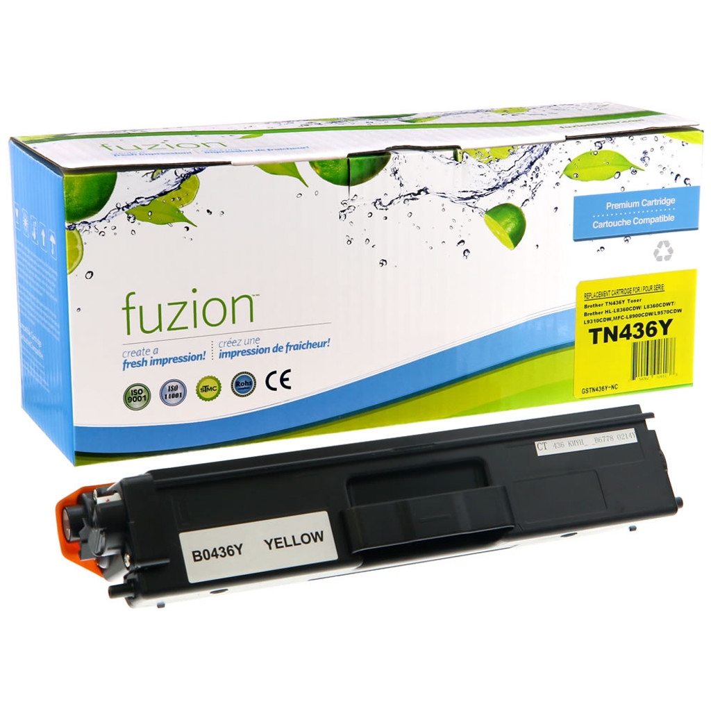 Fuzion Brother TN436Y Toner Yellow Compatible
