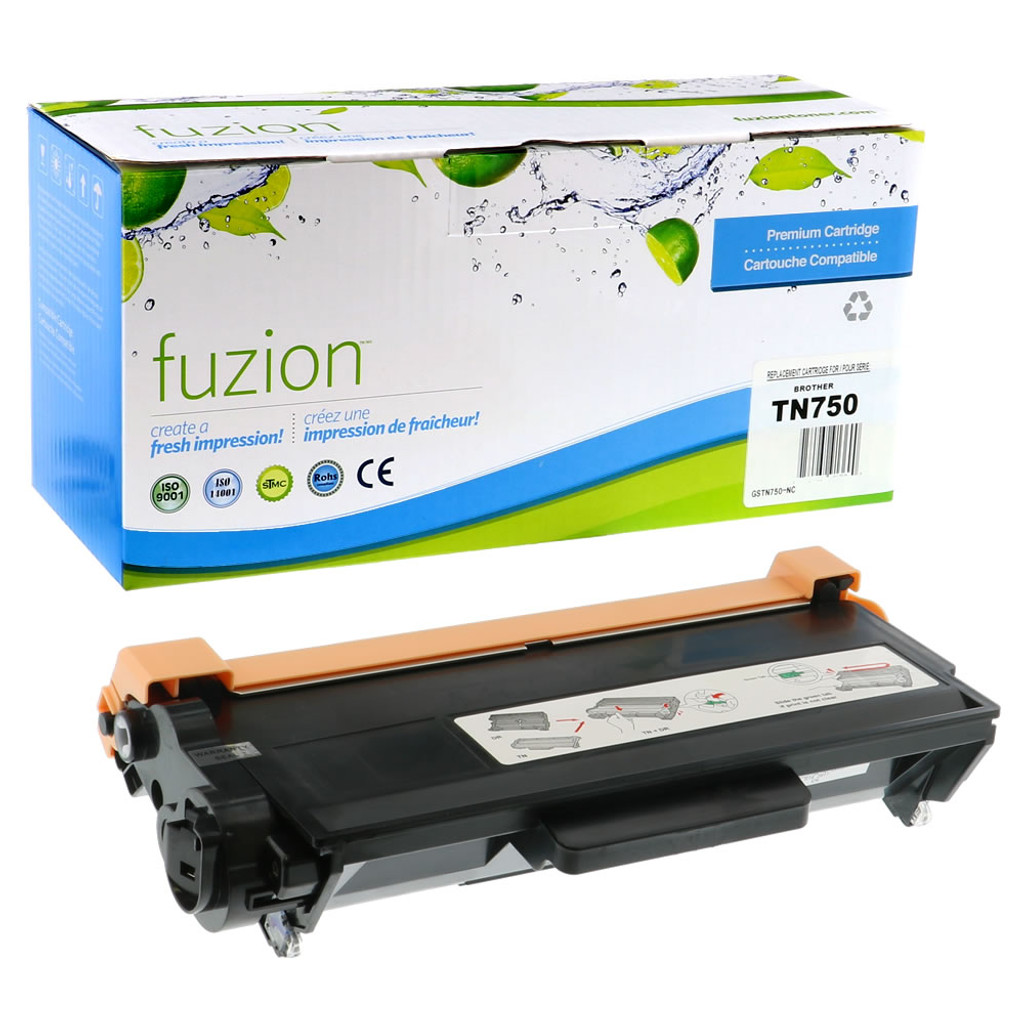 Fuzion Brother TN750 Compatible Toner Black Compatible