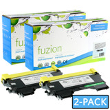 Fuzion Brother TN450 Compatible Toner Black (2/Pack) Compatible