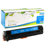 Fuzion - HP CE321A 128A  Toner - Cyan Remanufactured