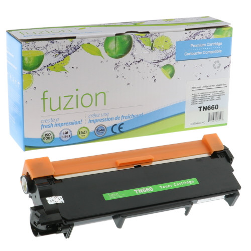 Fuzion Brother TN660 Compatible Toner Black High Yield Compatible