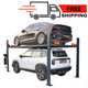 4 Post 8,000 lbs Capacity Manual Release Storage Lift With Castors SAE-P48