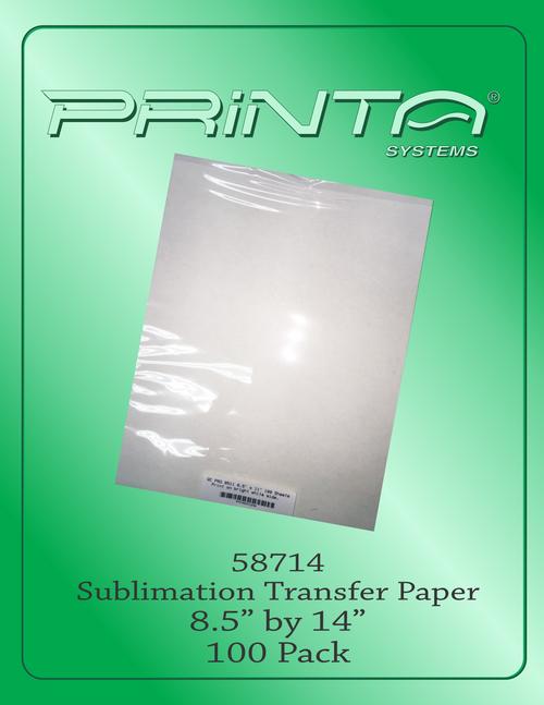 "SUBLIMATION TRANSFER PAPER, 8.5"" x 14"" Sublimation Transfer Paper"