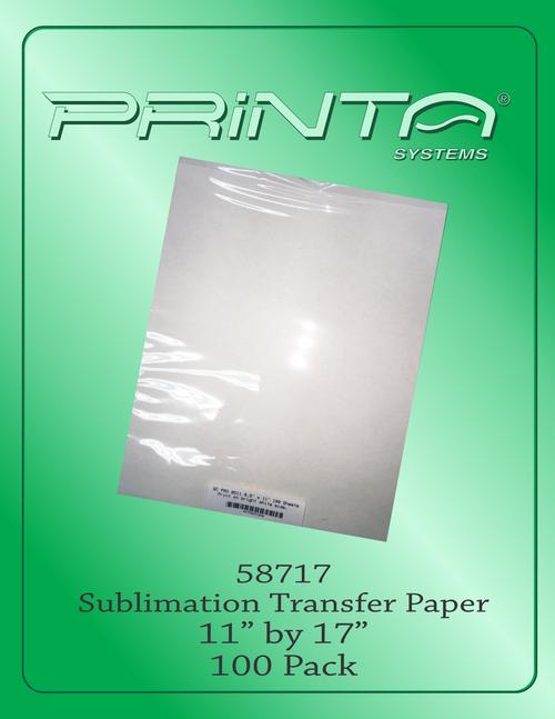 "SUBLIMATION TRANSFER PAPER, 11"" x 17"" Sublimation Transfer Paper"