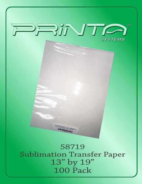 "SUBLIMATION TRANSFER PAPER, 13"" x 19"" Sublimation Transfer Paper"