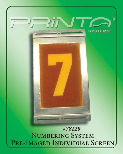 INDIVIDUAL BLANK or PRE-IMAGED SCREEN Athletic Numbering System