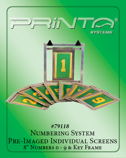 """8"""" PRE-IMAGED NUMBERING SYSTEM SCREEN SET Athletic Numbering System"""