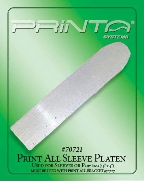 PRINT-ALL SLEEVE PLATEN Screen Printing Platens