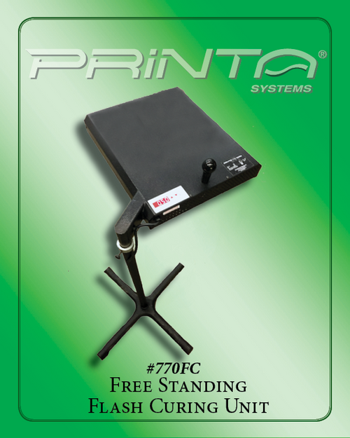 FREE STANDING FLASH CURING UNIT Screen Print Curing with Stand