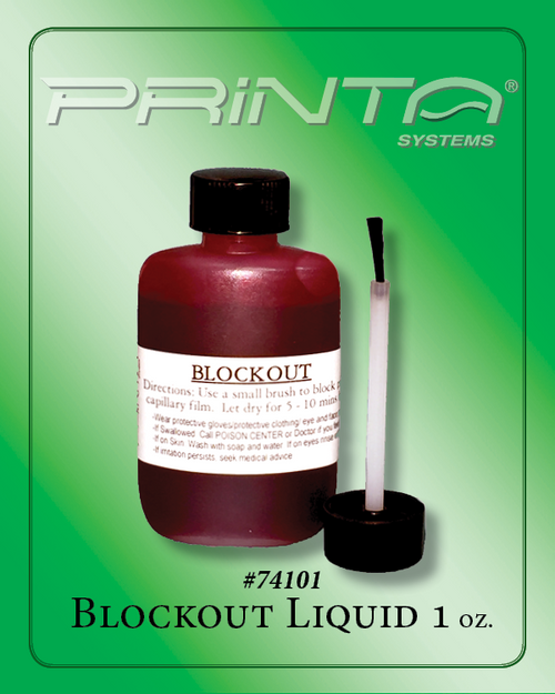 BLOCKOUT LIQUID, 1 OZ. 770 Series Screen Printing Chemicals