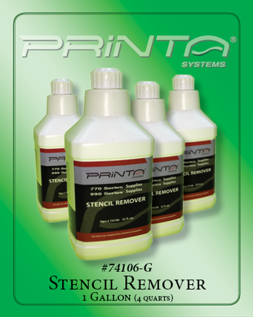 STENCIL REMOVER, 1 GALLON 770 Series Screen Printing Chemicals