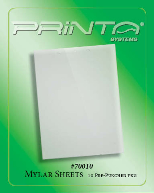PRE-PUNCHED MYLAR CARRIER SHEETS 770 Series Film and Pre-Press