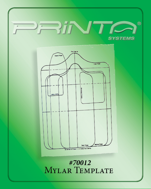 PREPUNCHED MYLAR TEMPLATE FOR PLATENS 770 Series Film and Pre-Press