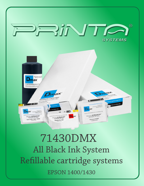 All Black Ink System for Epson 1400/1430